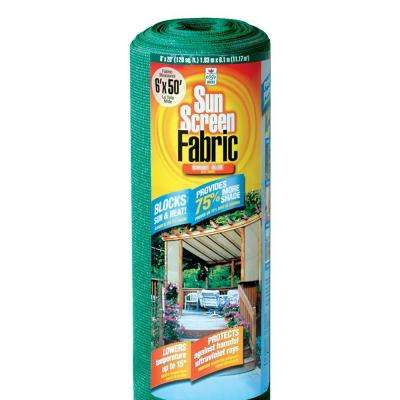 6 ft. x 50 ft. Sun Screen Fabric Shade Canopy in Green, Heavy Duty