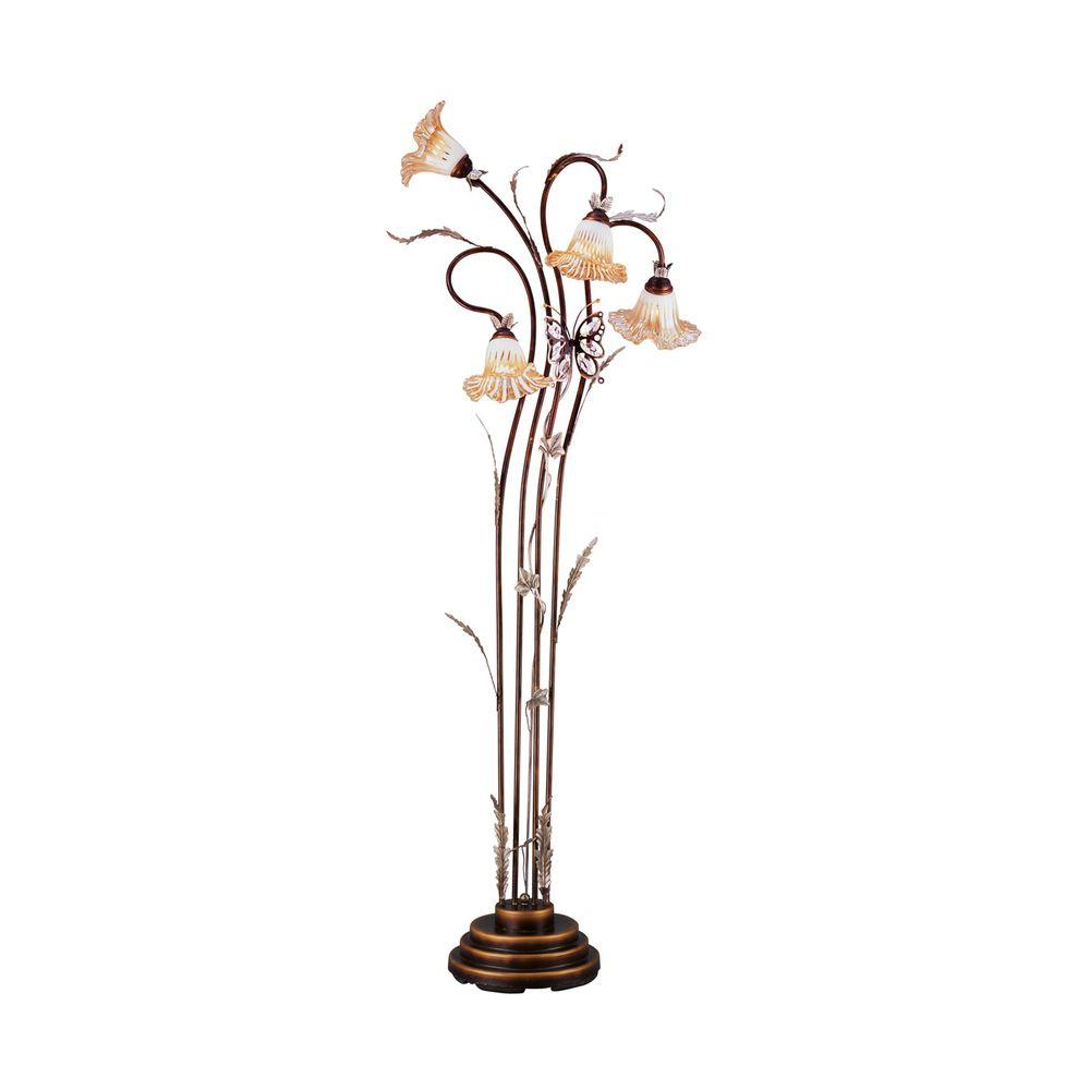 Ok lighting 70 in bronze floor lamp ok 9138 the home depot ok lighting 70 in bronze floor lamp mozeypictures Choice Image
