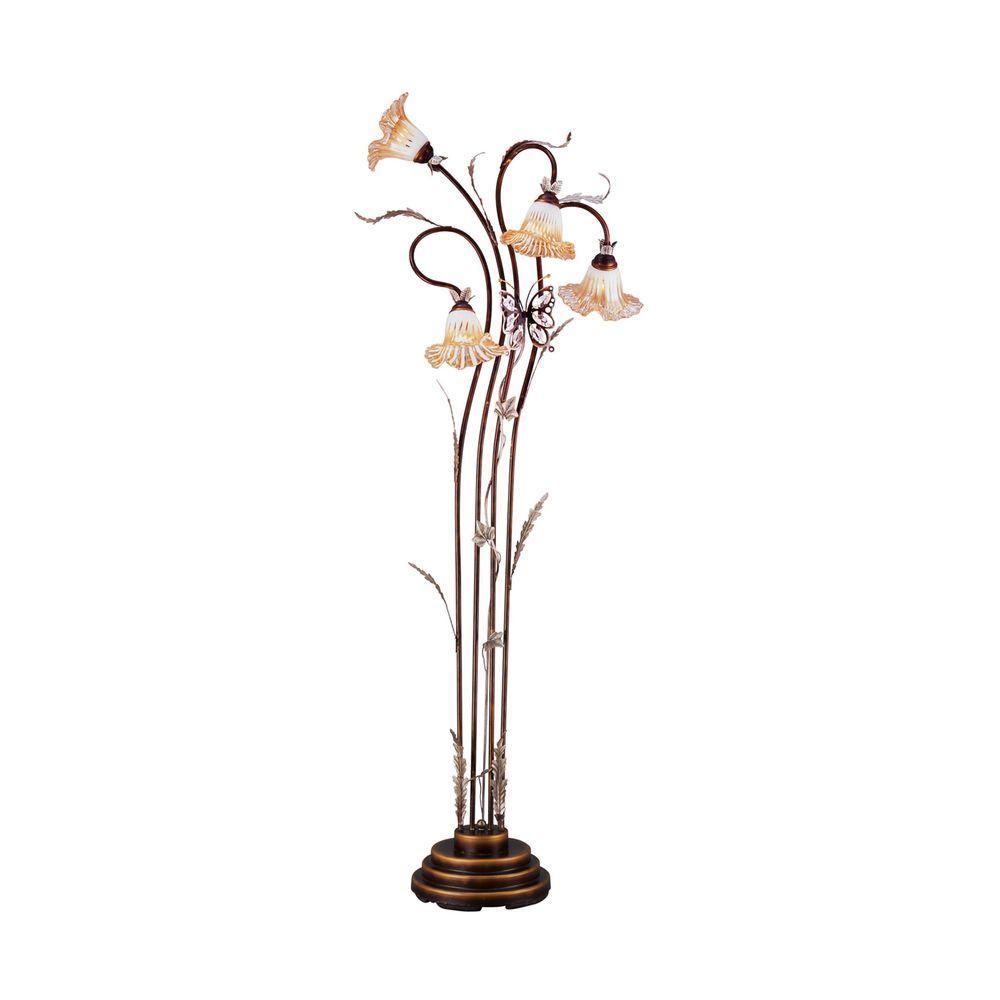 70 in. Bronze Floor Lamp