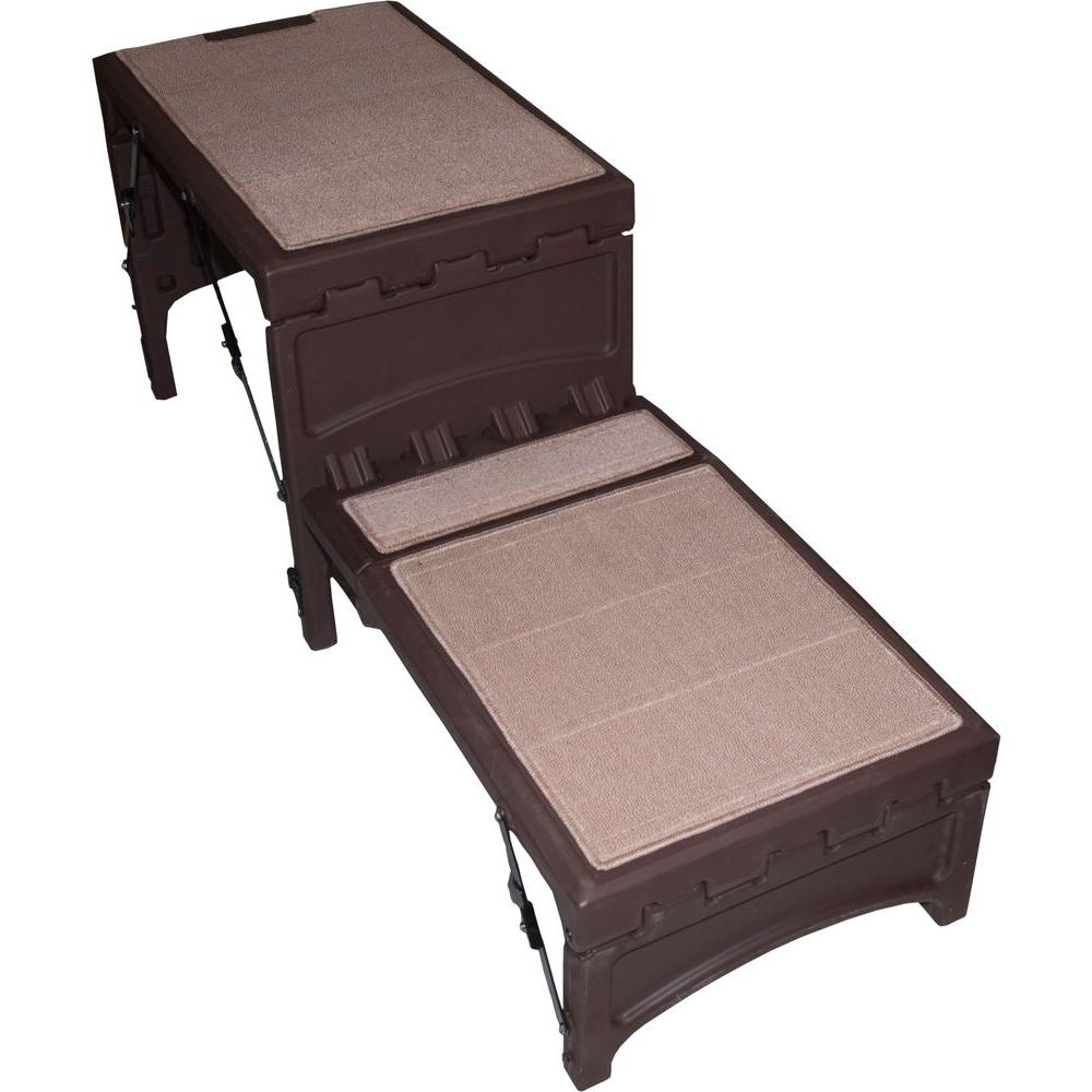 60 in. x 19 in. x 23 in. Chocolate Free-Standing Foldable