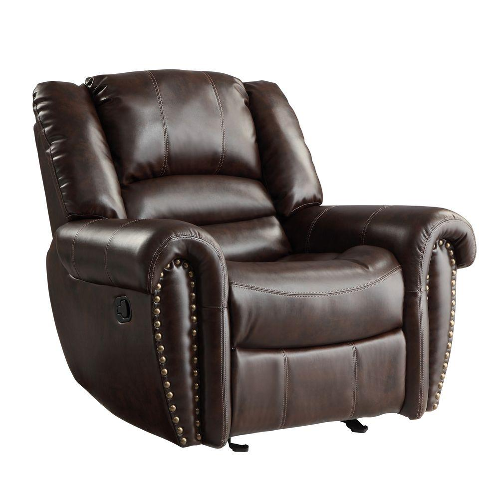 Merida Chocolate Bonded Leather Recliner