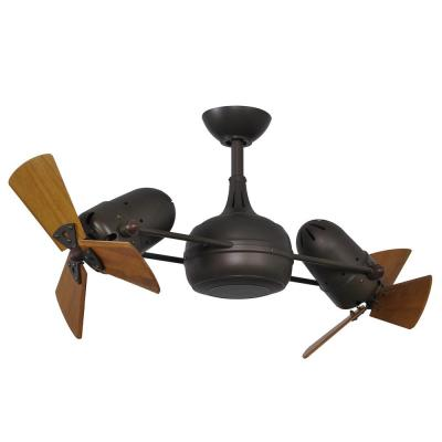 Dagny 38 in. Indoor/Outdoor Textured Bronze Ceiling Fan with Remote Control