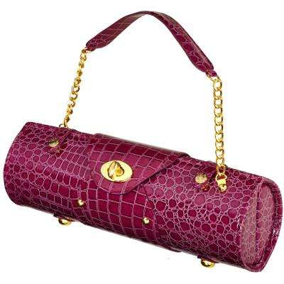 Purple Wine Carrier and Purse