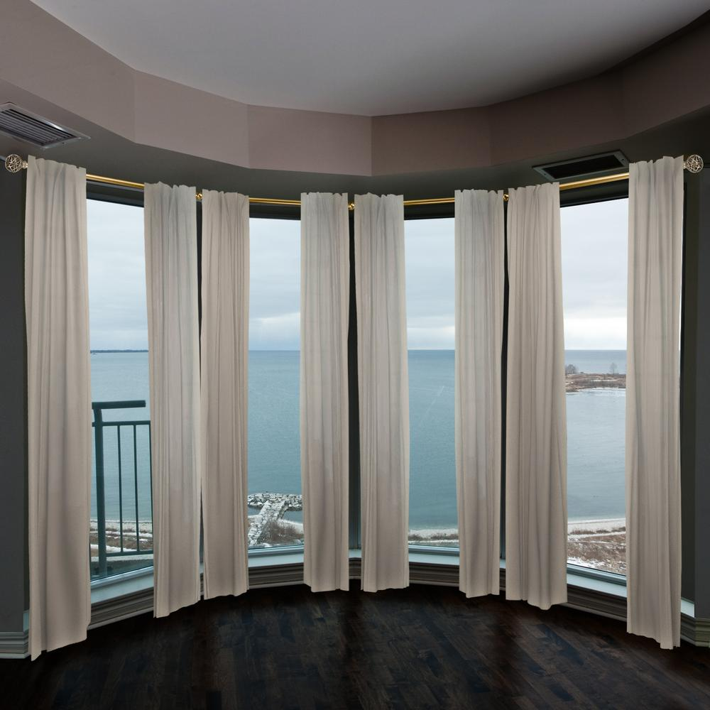 Emoh 13 16 Dia Adjustable 4 Sided Bay Window Curtain Rod 28 To 48