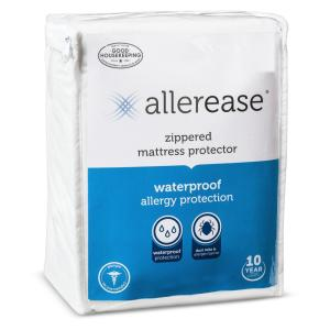 Click here to buy AllerEase Waterproof Allergy Protection Zippered Mattress Protector, Twin by AllerEase.