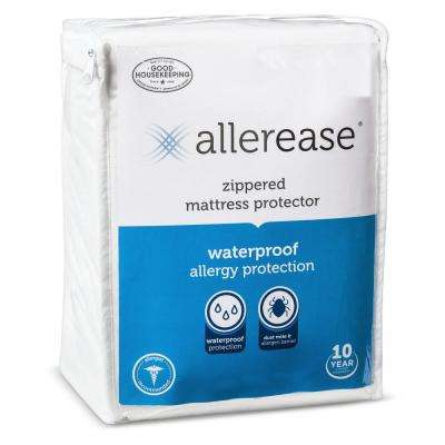 Waterproof Allergy Protection Zippered Mattress Protector, Twin