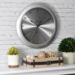 FirsTime 11 inch Round Plasma Steel Wall Clock by FirsTime