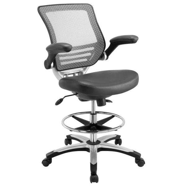 MODWAY Edge Drafting Stool in Gray