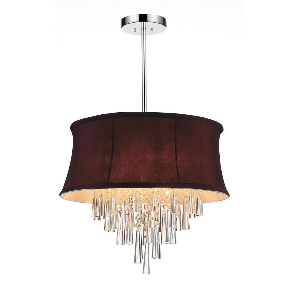 Audrey 8 light chrome chandelier with dark purple shade 5532p38c o audrey 6 light chrome chandelier with dark purple shade arubaitofo Images