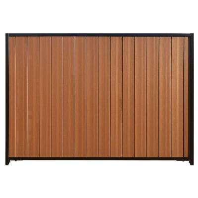 Mesa 6 ft. x 8 ft. Timber Brown/Black Composite/Steel Fence Panel with Posts, Rails and Hardware Kit
