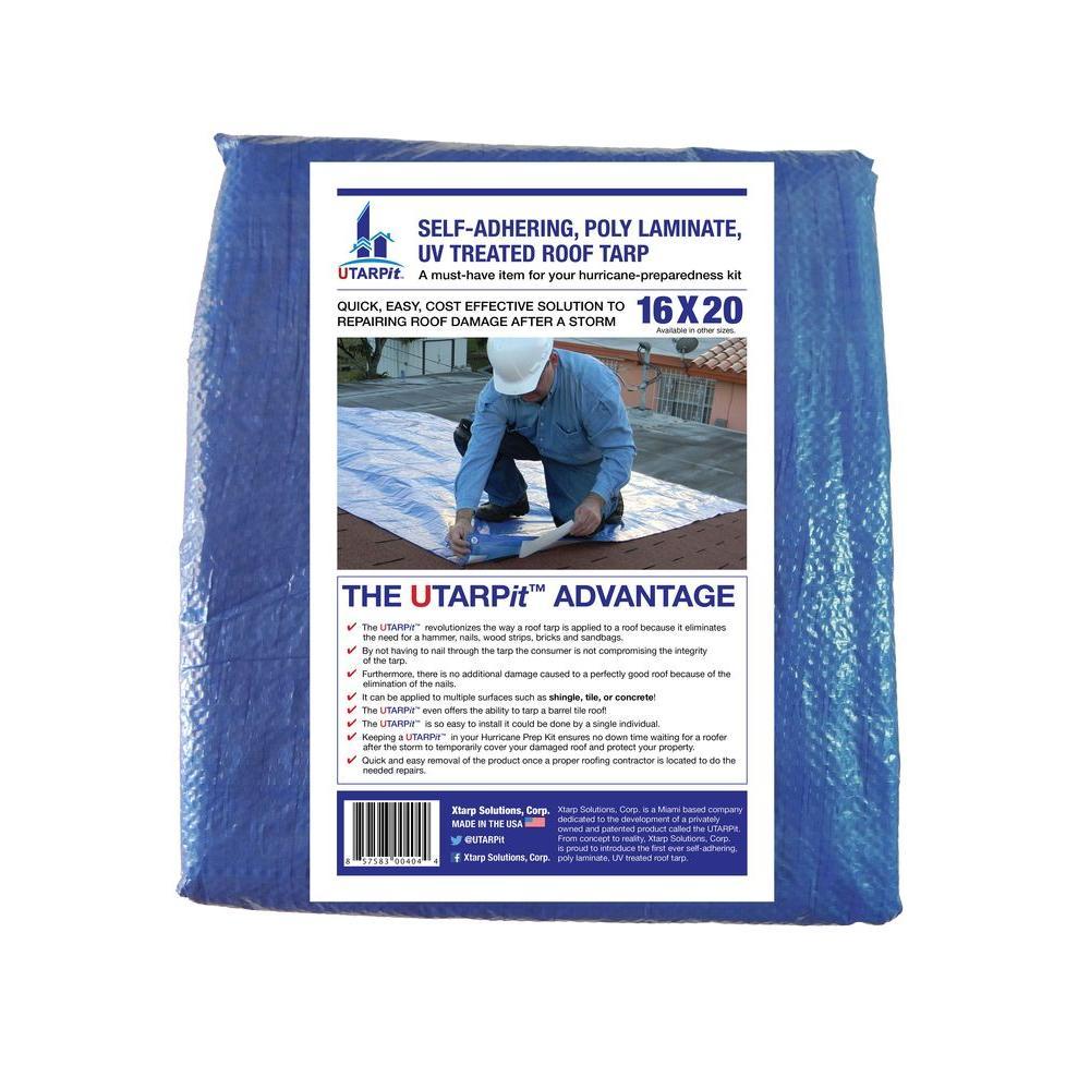 16 ft. x 20 ft. Blue Roofing Tarp