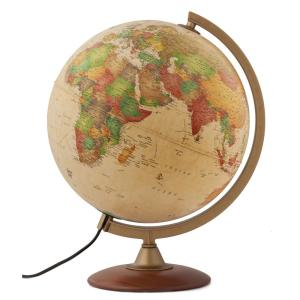 """12/"""" Antique Ocean World Globe Illuminated Table Top With Wooden Base New"""