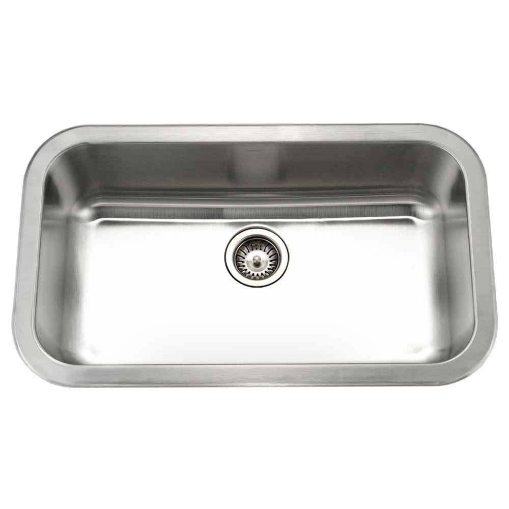 Medallion Gourmet Undermount Stainless Steel 32 in. Large Single Bowl Kitchen