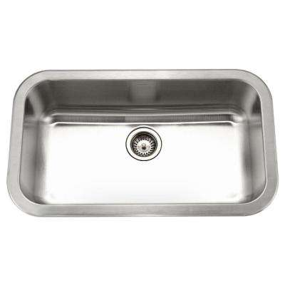 Medallion Gourmet Undermount Stainless Steel 32 in. Large Single Bowl Kitchen Sink