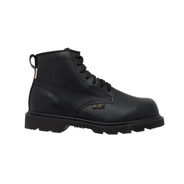 size 15 black work boots