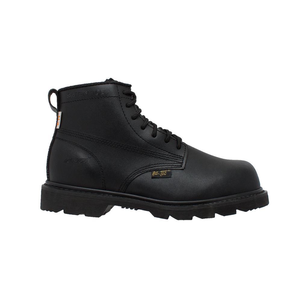 Work Boots - Composite Toe - Black Size