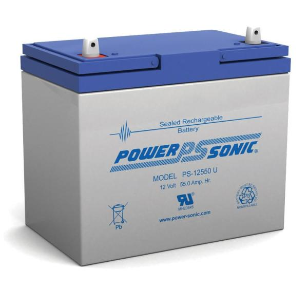 12-Volt 55 Ah Sealed Lead Acid (SLA) Rechargeable Battery
