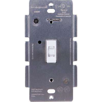 Z-Wave In-Wall Add-On Smart Toggle Switch with White