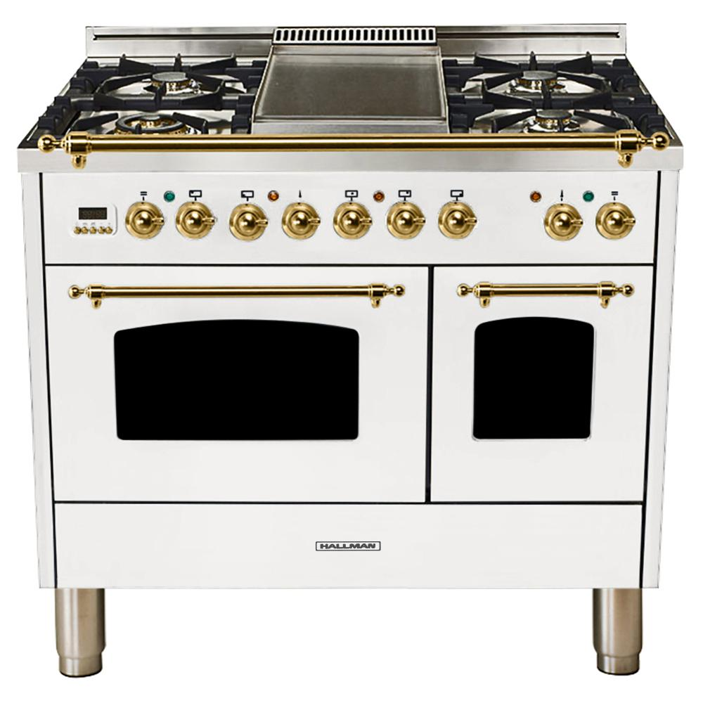 daec4812528 ... Double Oven Dual Fuel Italian 40 Inch Gas Range Ranges Compare Prices  At Nextag