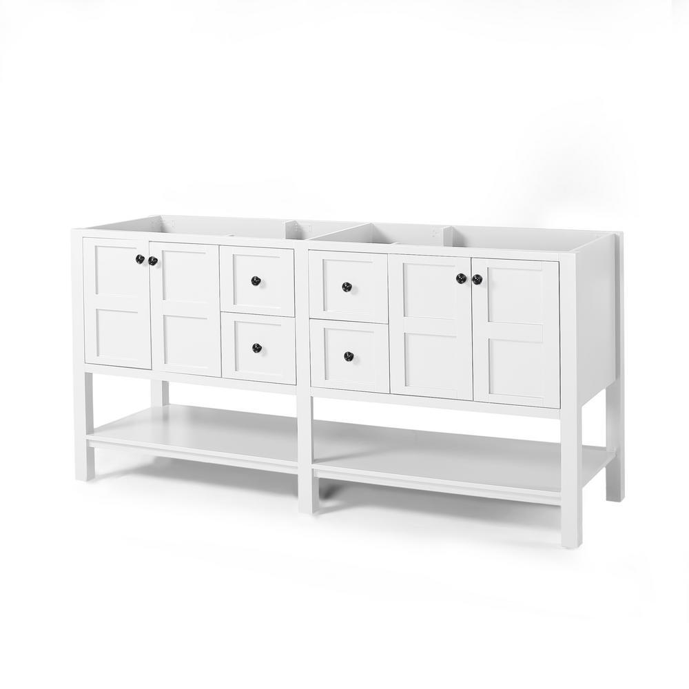Jaeden 72 in. W x 22 in. D Bath Vanity Cabinet Only in White