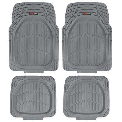 Deep Dish MT-921 Gray Heavy Duty 4 Piece All Weather Rubber Car Floor Mats