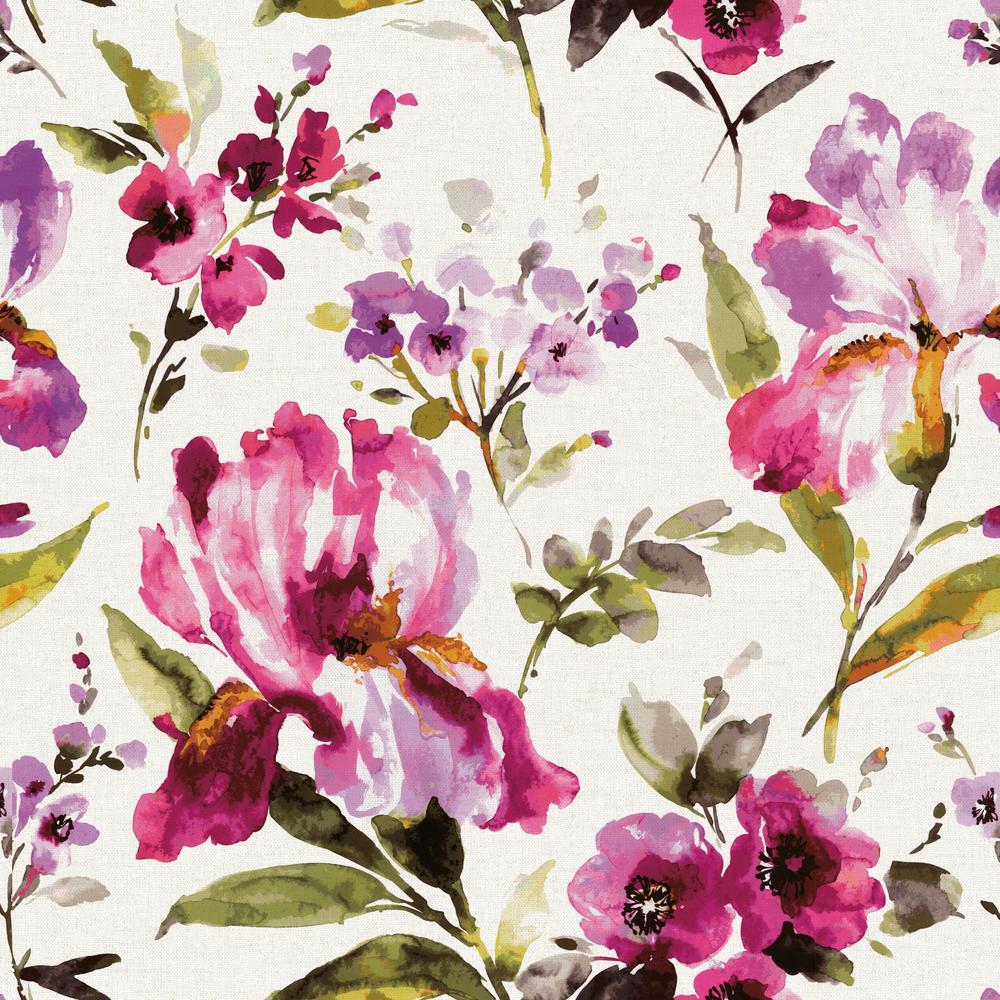 28.18 sq. ft. Iris Peel and Stick Wallpaper