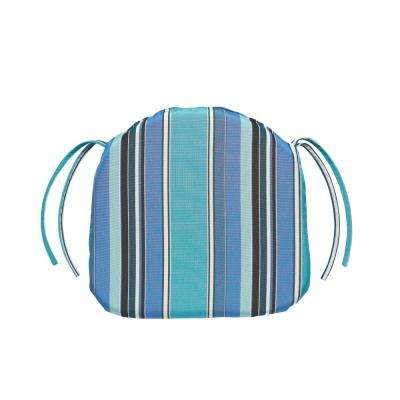 16 x 15 Outdoor Chair Cushion in Sunbrella Dolce Oasis