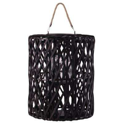 Black Candle Wooden Decorative Lantern