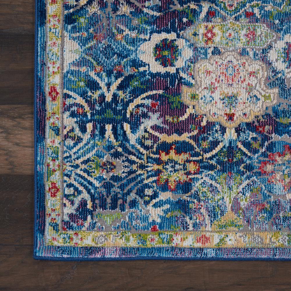 Nourison Global Vintage Blue Multicolor 2 Ft X 8 Ft Persian Vintage Runner Rug 457998 The Home Depot
