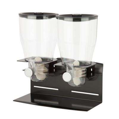 Commercial Plus Double Canister Dispenser in Black