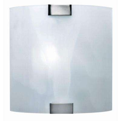 Reena 1-Light Steel Sconce with Cloud Glass