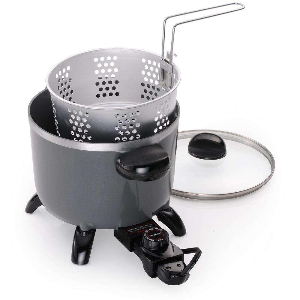 Presto Electric Ceramic Multi Cooker Deep Fryer Steamer