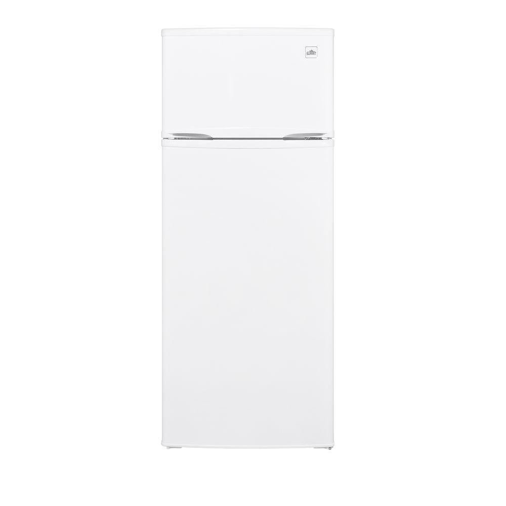 Summit Appliance 7.4 cu. ft. Top Freezer Refrigerator in White-DISCONTINUED