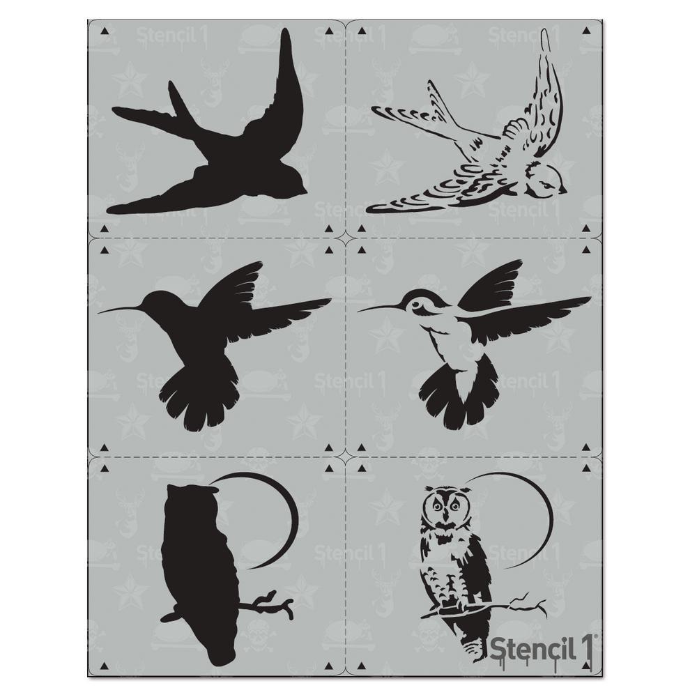 Stencil1 Swallow 2 Layer Stencil-S1_2L_99 - The Home Depot