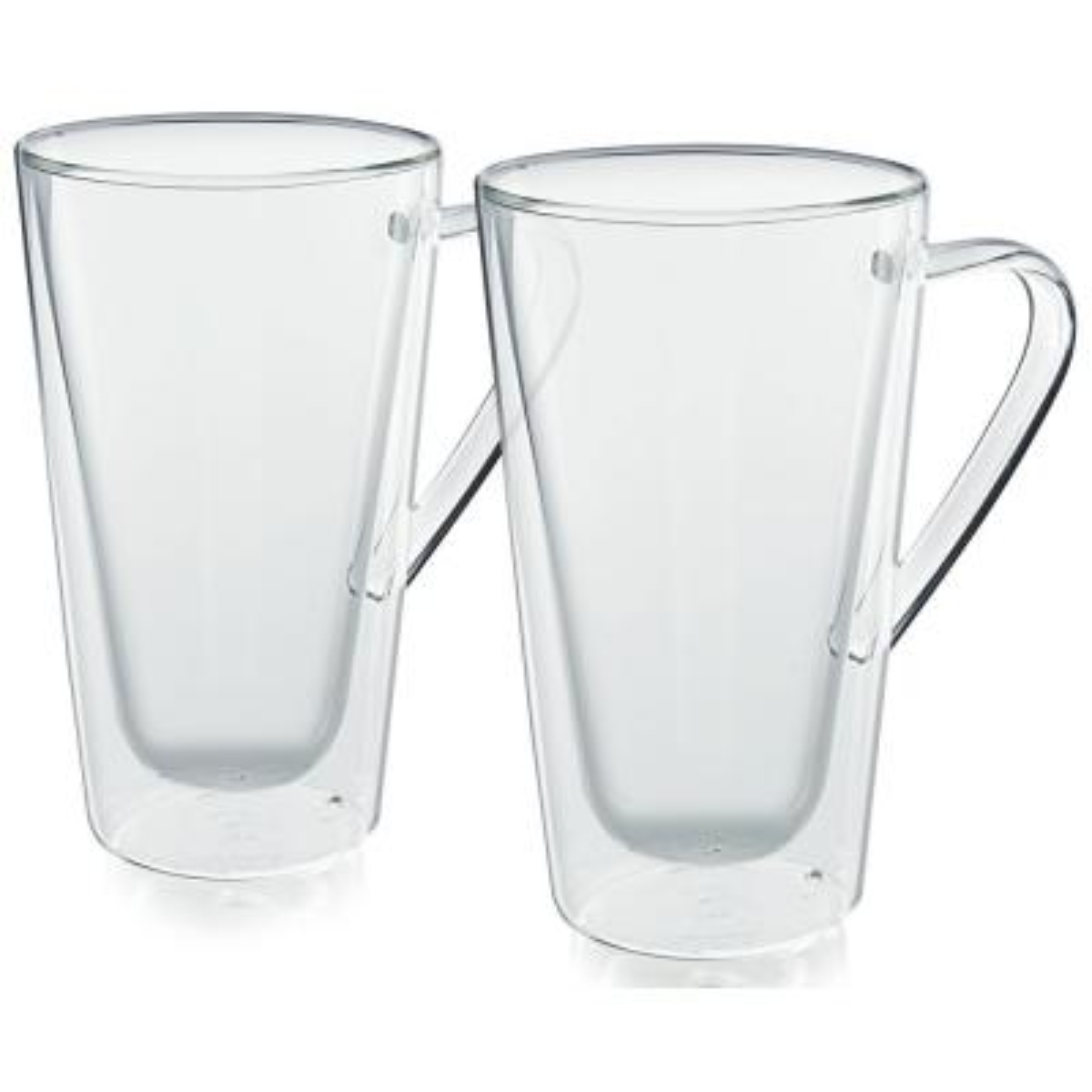 Bellagio Double-Wall 12 fl. Oz. Clear Glassware Coffee Mug (2-Pack)