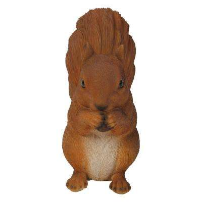 Brown Squirrel Eating Statue