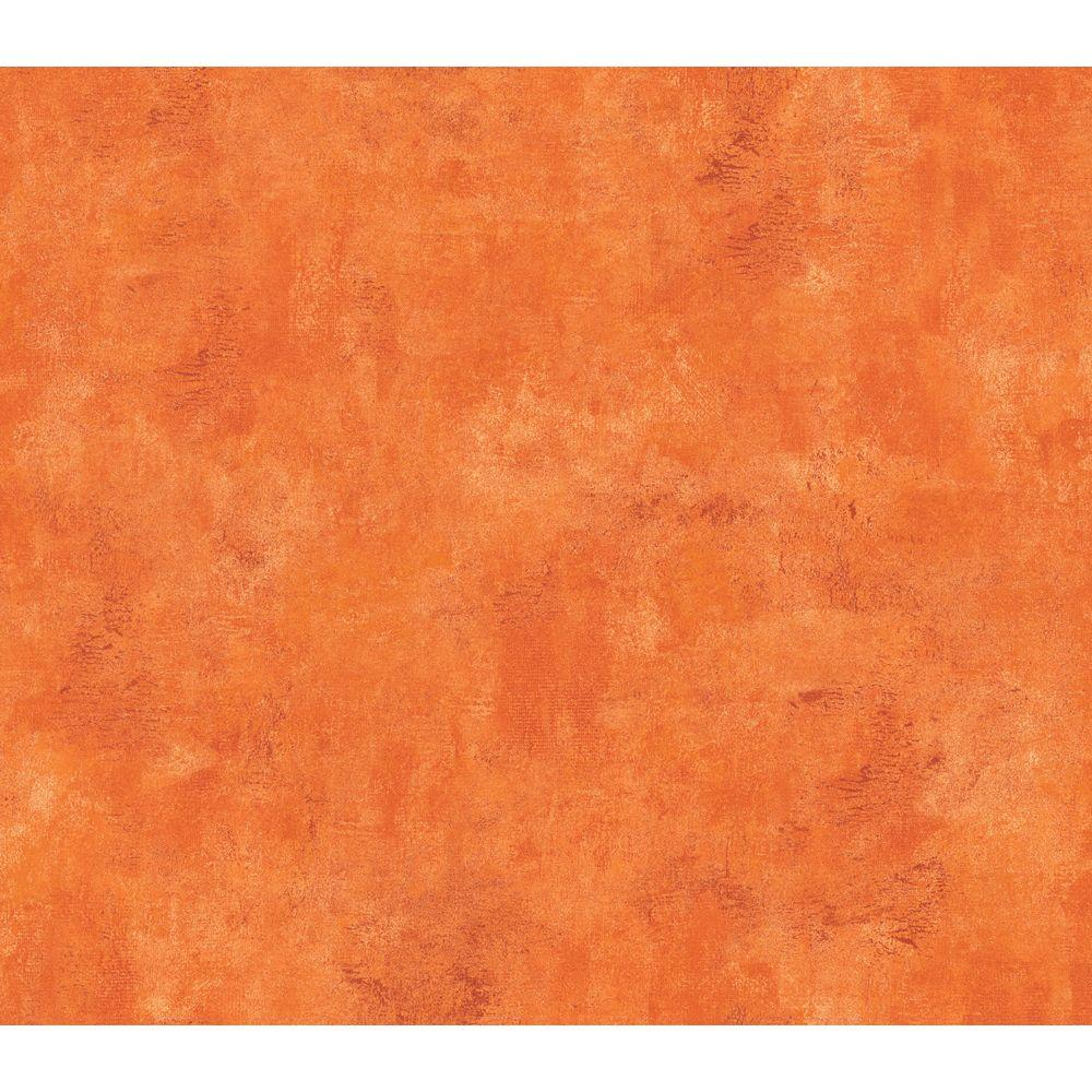 The Wallpaper Company 56 sq. ft. Orange Faux Textured Wallpaper