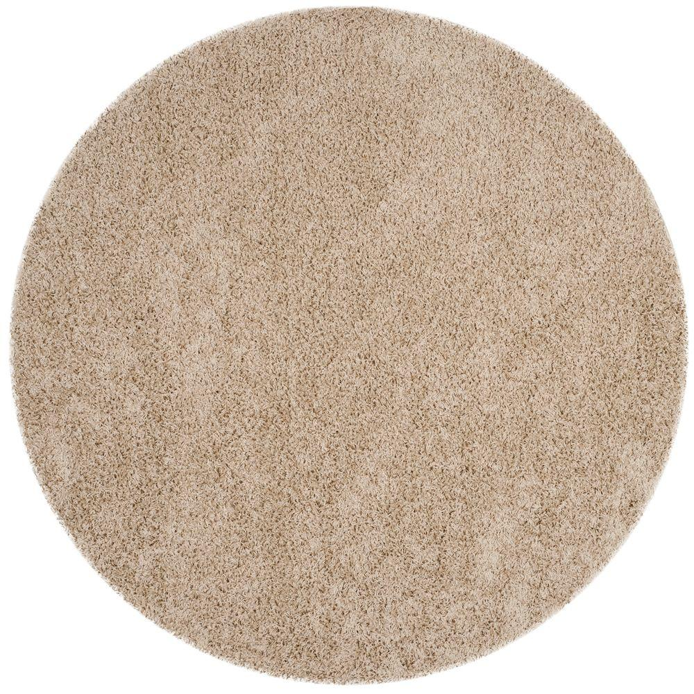 Athens Shag Beige 6 ft. 7 in. x 6 ft. 7