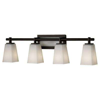 Clayton 4-Light Oil Rubbed Bronze Vanity Light