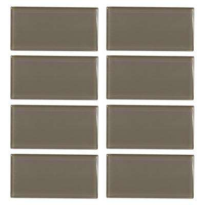Fieldstone Gloss 3 in. x 6 in. Glass Wall Tile (8-pieces / pack)