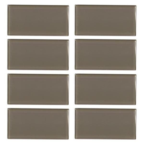 Fieldstone Gloss Browns/Tans 3 in. x 6 in. Glass Wall Tile (1 sq. ft. / pack)