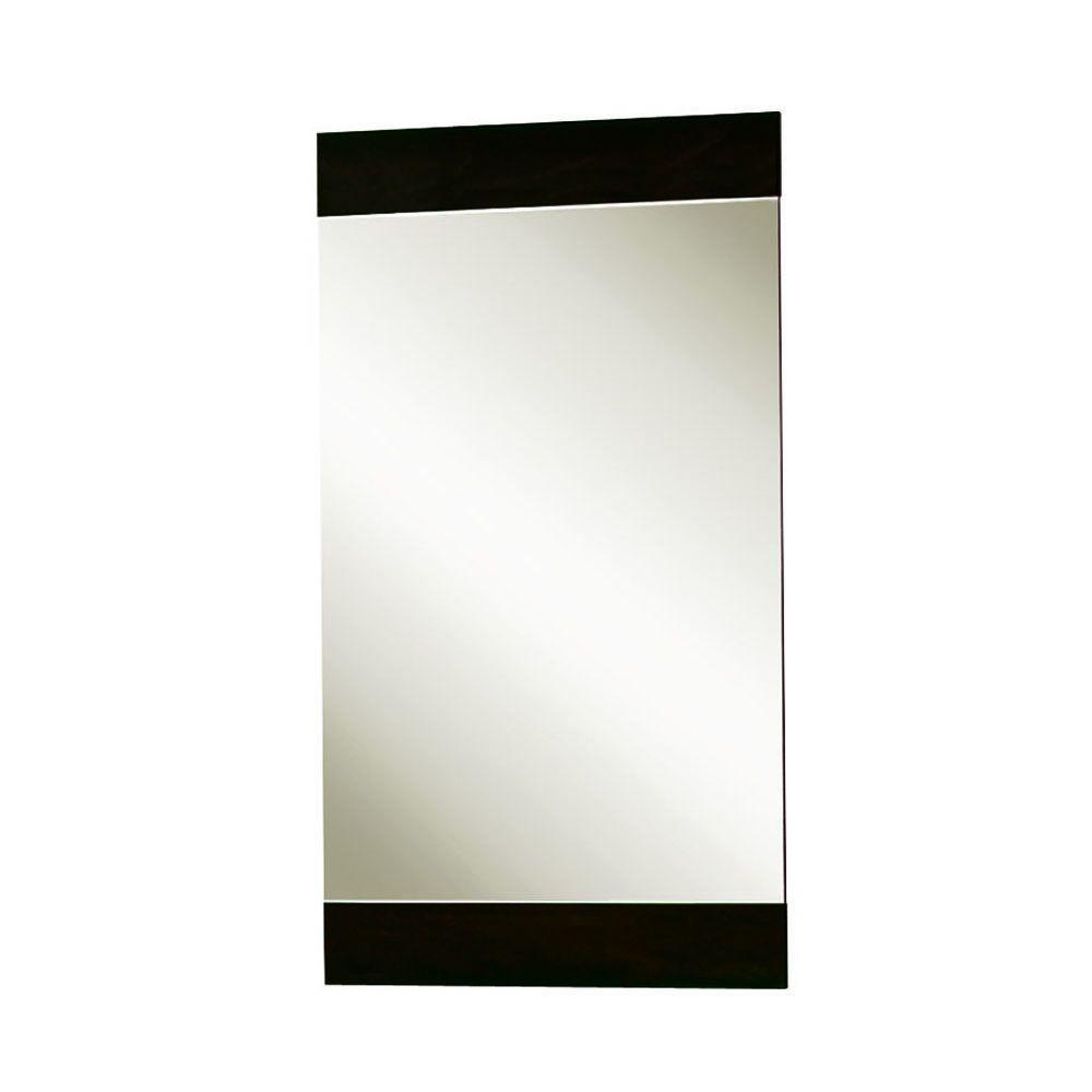 MagickWoods Sonata Urban 30 in. x 16 in. Poplar Framed Mirror in Espresso-DISCONTINUED