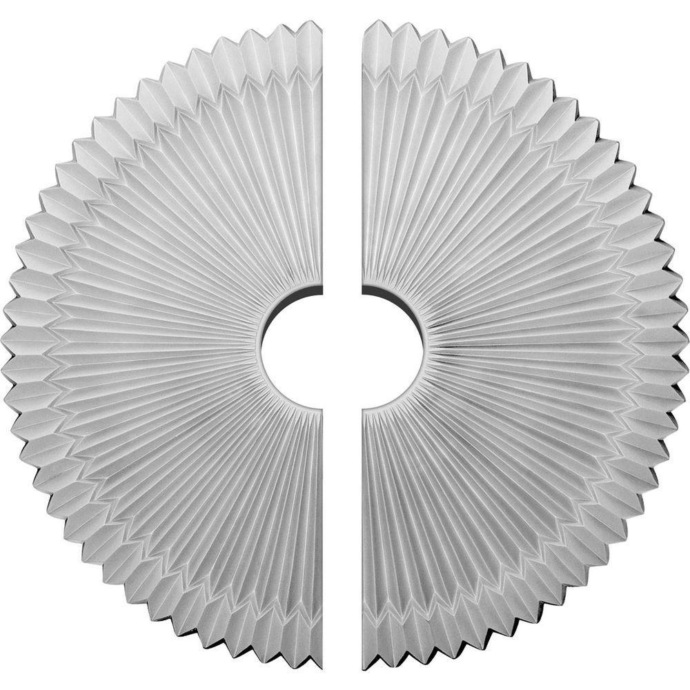 24 in. O.D. x 4-1/2 in. I.D. x 3 in. P Shakuras Ceiling Medallion (2-Piece)