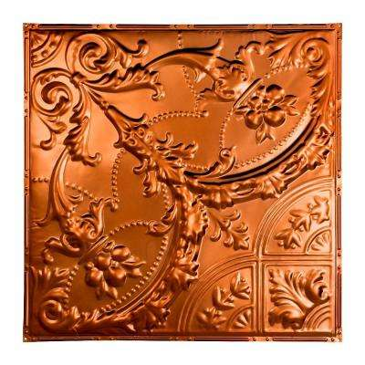 Saginaw 2 ft. x 2 ft. Nail-up Tin Ceiling Tile in Copper