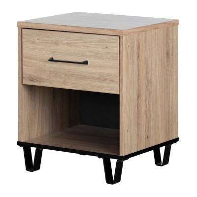 Fakto 1-Drawer Rustic Oak Nightstand
