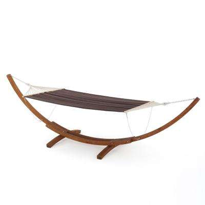 Richardson 13.68 ft. Free-Standing Hammock in Charcoal Brown