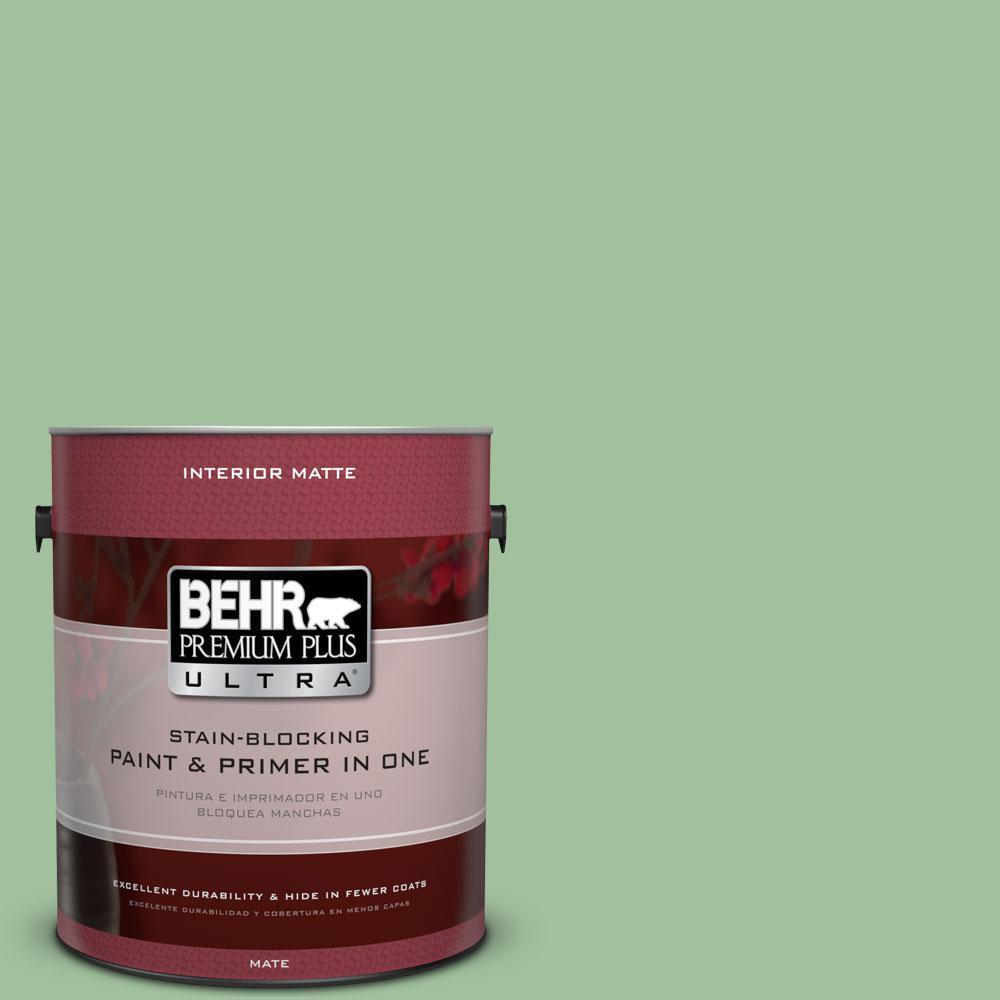 BEHR Premium Plus Ultra 1 gal. #BIC-25 Spring Sprig Matte Interior Paint