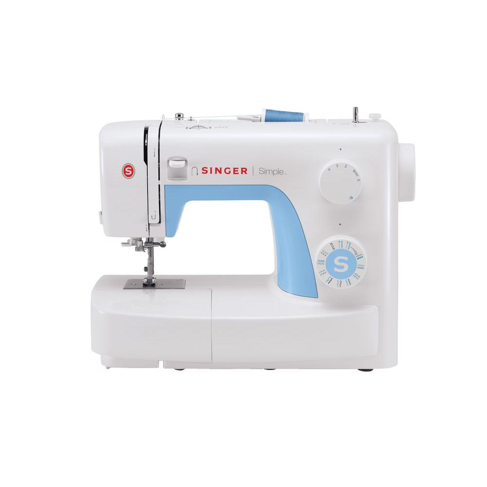 SINGER SEWING CO. Simple 21-Stitch Sewing Machine, White