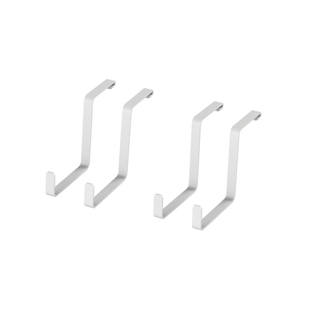 D Ceiling Mounted Steel Accessory Garage Hook S Hooks In White 4 Piece