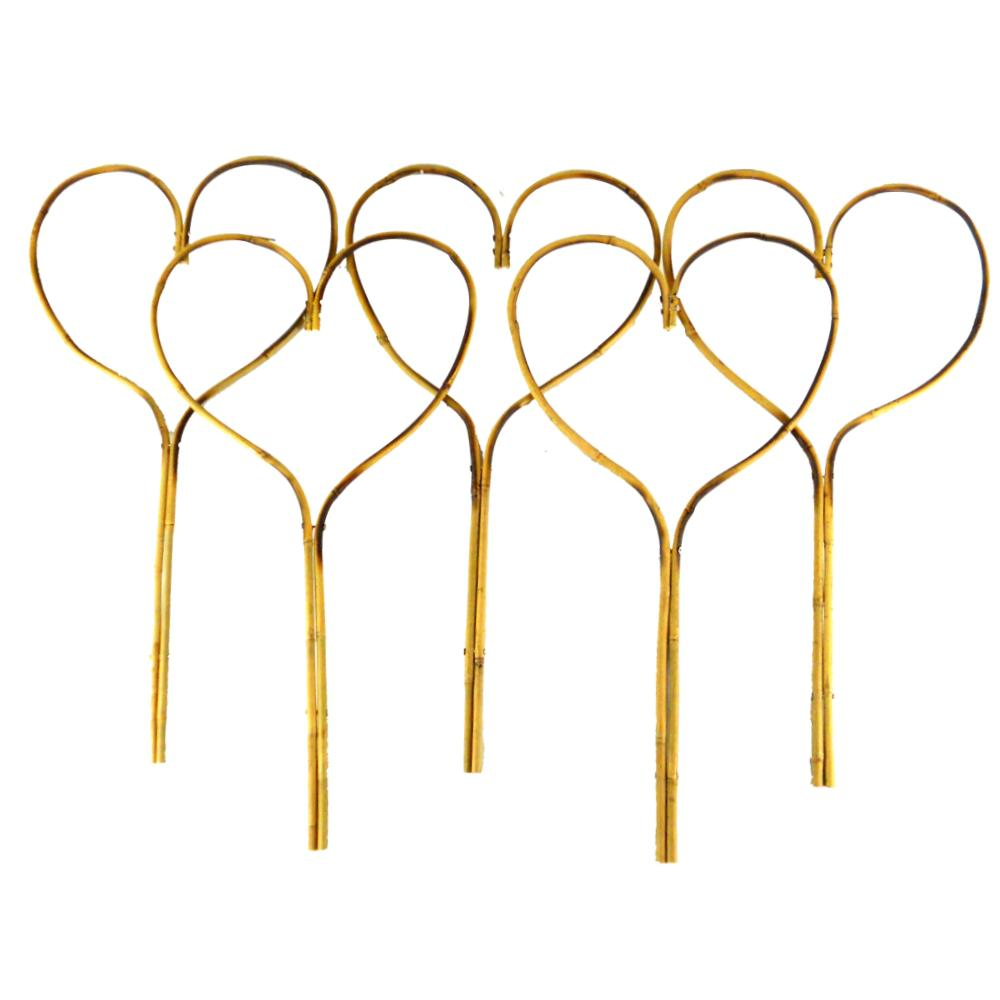 24 in. Bamboo Heart Stake (5-Pack)